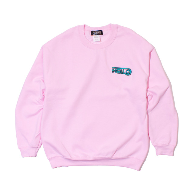 HELLO CREWNECK SWEAT #PINK