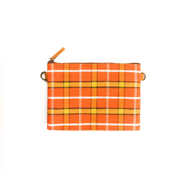 Flat Pouch Harf / Orange ×Yellow : 2110100100505