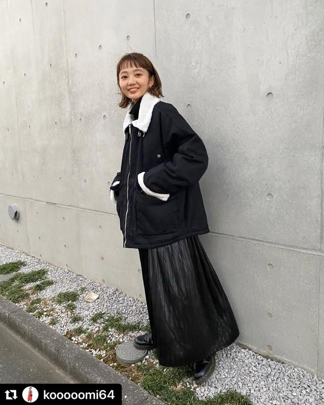 【送料無料】メンズライクボアブルゾン♡ブルゾン ボア メンズライク カジュアル スタンドカラー