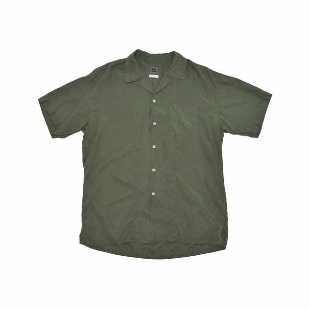 BEST PACK Open Collar S/S Shirt Khaki BP19S-SH02