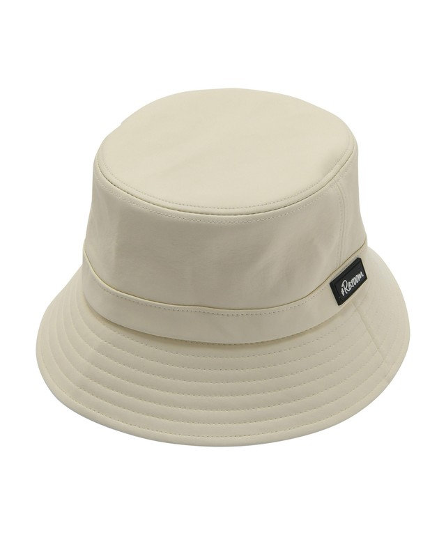 RUBBER WAPPEN LEATHER BAGUETTE HAT[REH117]