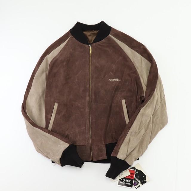 """90s """" Schott """"  Suede Leather Jacket 【Deadstock】   90年代  ショット  スエードレザージャケット A688"""