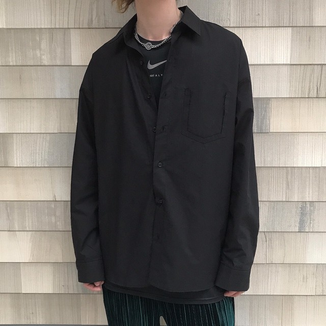 【MENS - 1 size】OVERSIZE SHIRT / Black