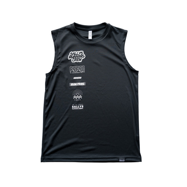 【SALLYS】SALLYS RUNNING CREW Sleeveless(Black)
