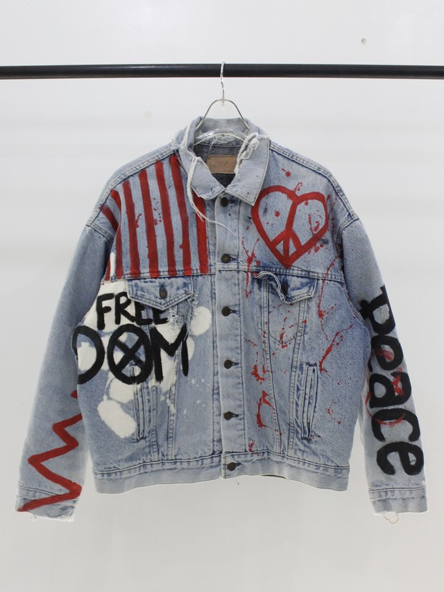 Used Everything will be okay in the end Paint Denim jacket