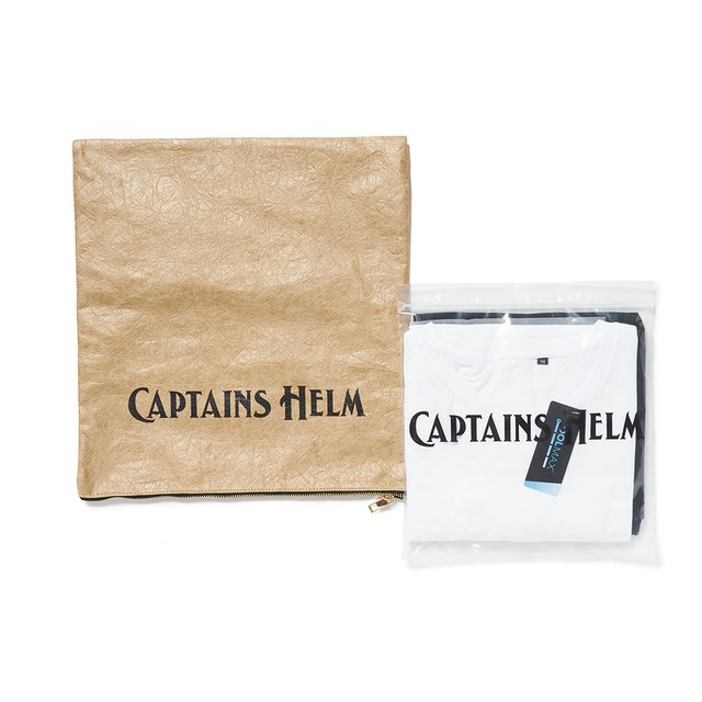 CAPTAINS HELM #2 Pack Tee - WHT/BLK