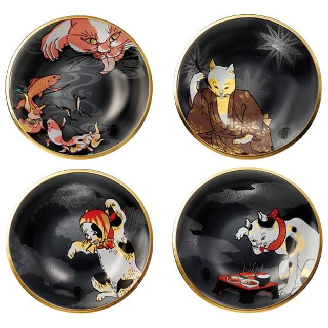江戸猫ぐらすシリーズ 丸皿