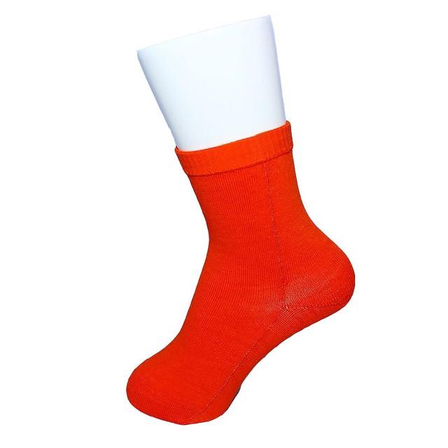 【Inner-Fact】 Round Socks Middle(Dark Orange)