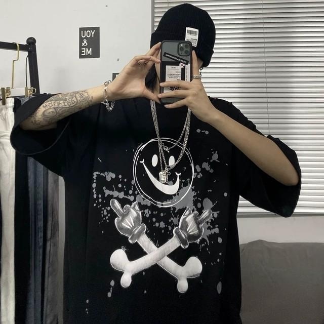 【トップス】プリント暗黒ストリート系ファッションTシャツ28358711