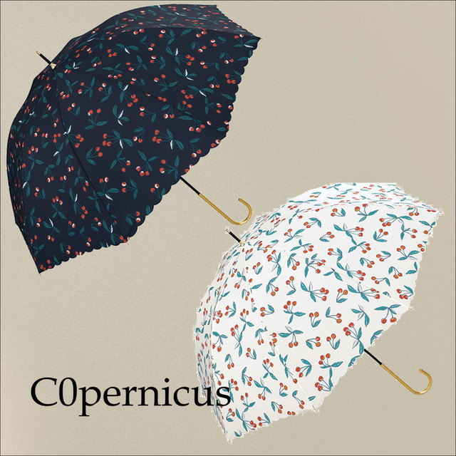 cherry white OR navy umbrella 浜松雑貨屋C0pernicus