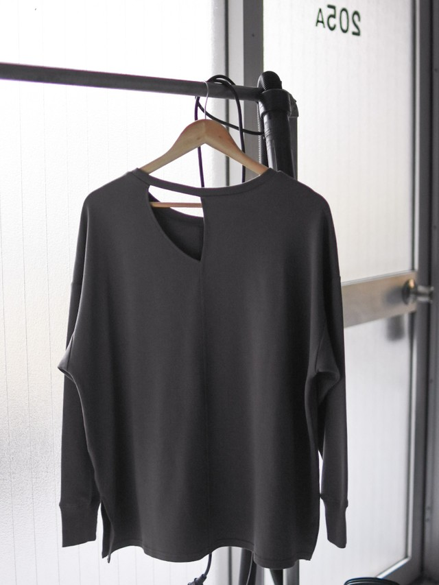 cutting oversize tee(charcoal gray )