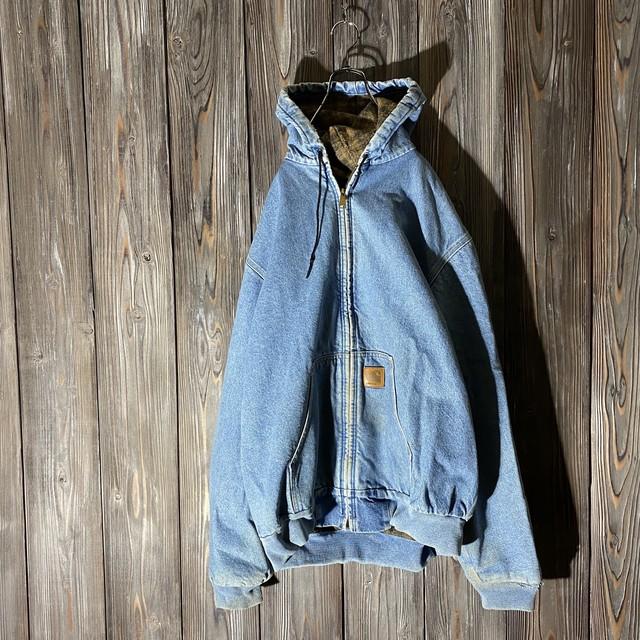 [Carhartt]denim active jacket