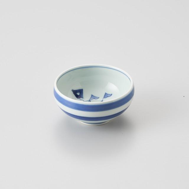 【青花】オランダ船 丸湯呑