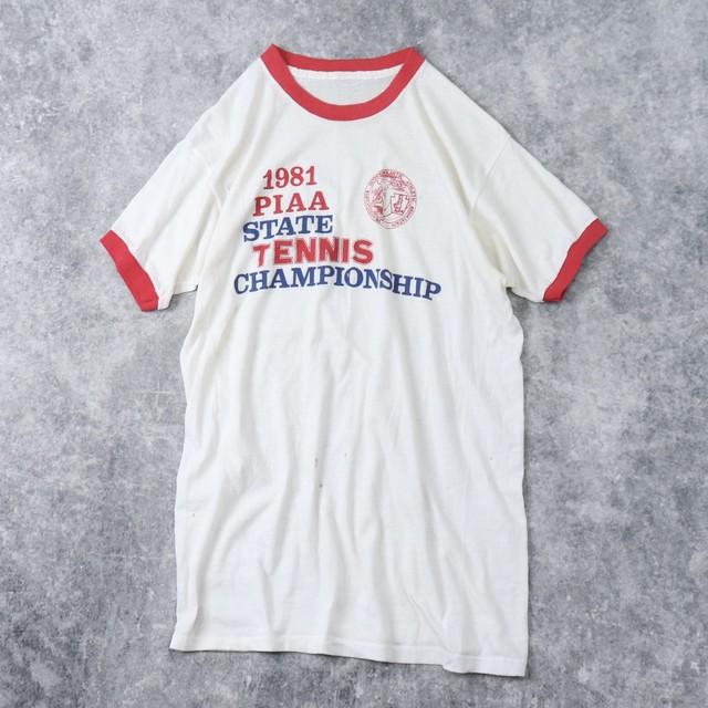 80年代 リンガーTシャツ テニス大会T