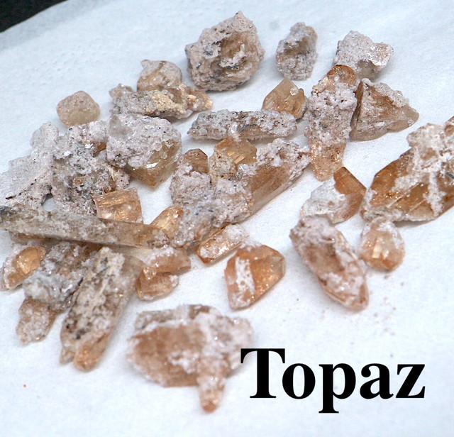 まとめて!トパーズ ユタ州産 18,7g 原石 宝石 天然石 TZ0100 鉱物セット