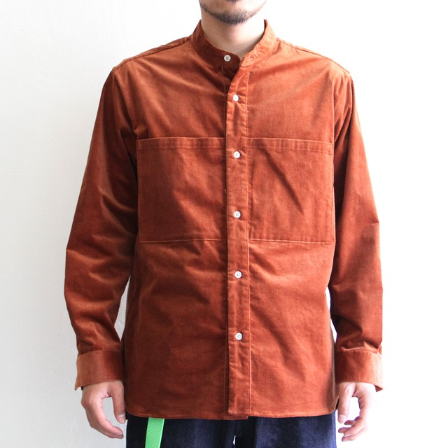 STILL BY HAND【 mens 】linen band collar shirts