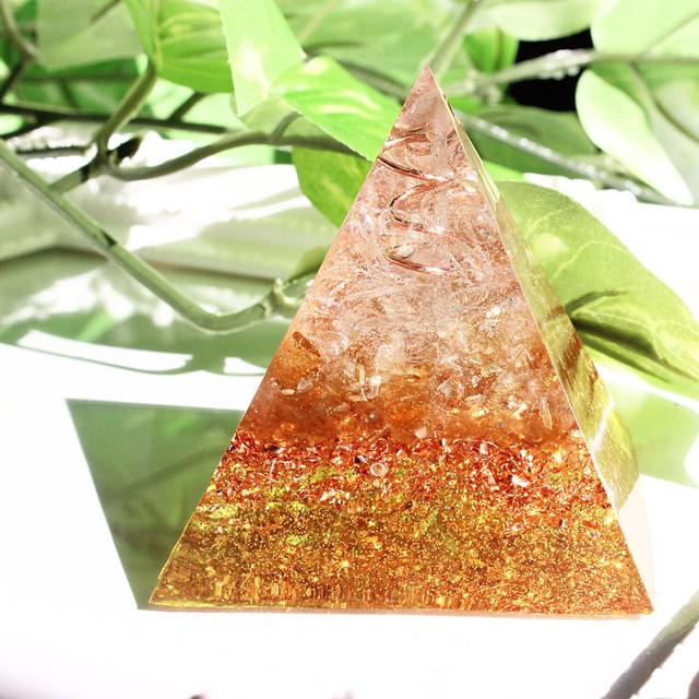 [受注製作] ピラミッド型Ⅱ オルゴナイト シトリン