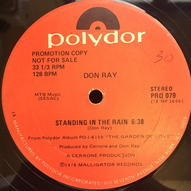 Don Ray ‎– Standing In The Rain