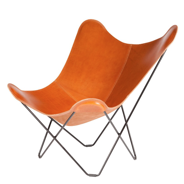BKF BUTTERFLY CHAIR PAMPA MARIPOSA POLO BROWN  LEATHER