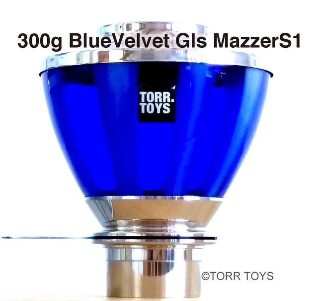 グラスホッパー●300g A 光沢 ブルーヴェルヴェット Mazzer S1(現品限り)
