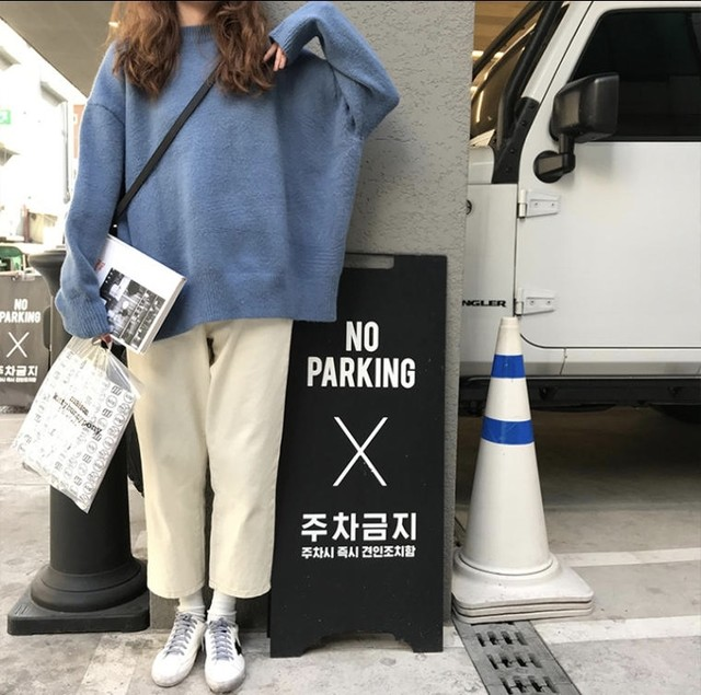 ストレート シンプル デニム パンツ ワンカラー B2793【2/25まで10%OFF!!】
