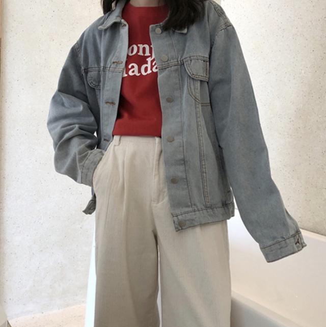 Vintage design loose denim jacket LD0567