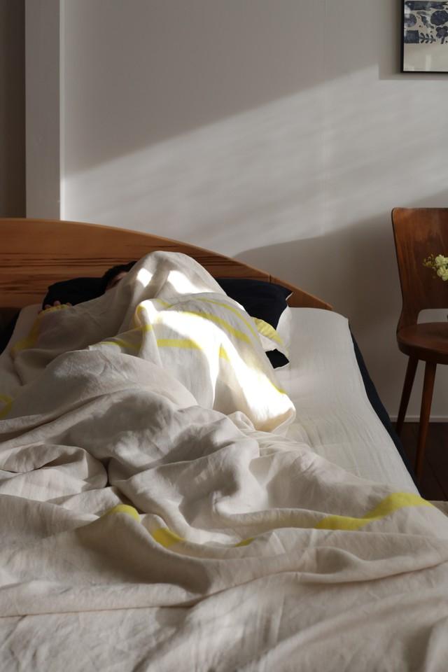 【LAPUAN KANKURIT(ラプアンカンクリ)】 USVA リネンブランケット(150×260cm)