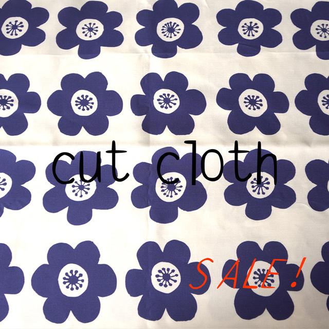 【カットクロス】anemone(deep blue)リネンコットン(140cm×120cm)