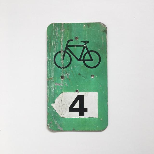 ヴィンテージ サインプレート「自転車」