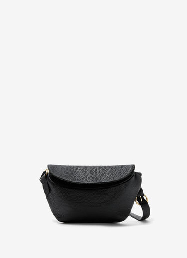 GRANULATED LEATHER WAIST BAG