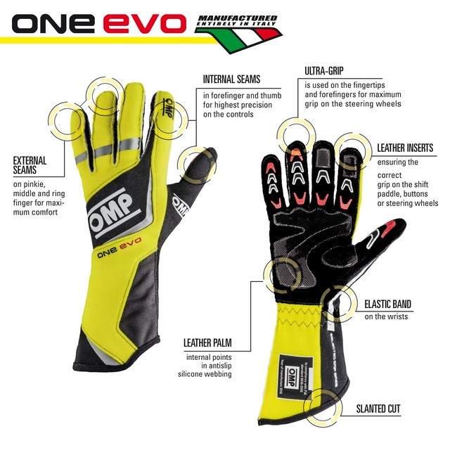 IB/759/GF ONE EVO GLOVES FLUO YELLOW/BLACK