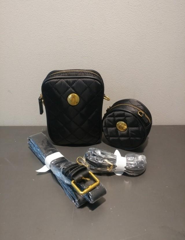 キルティングマルチポシェットセットバッグ ショルダーバッグ クロスバッグ 韓国ファッション