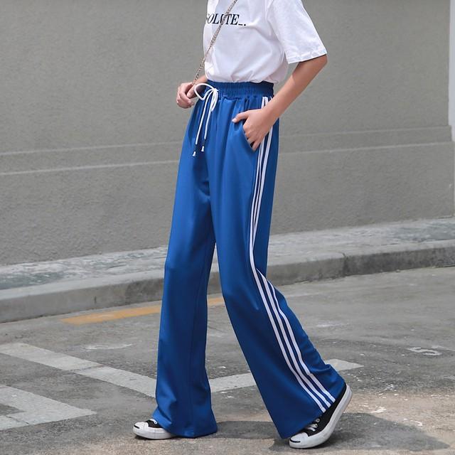 カジュアルパンツ ガウチョパンツ ボトムス ズボン レディースファション 韓国風 合わせやすい S M L LL ウエストゴム ブラック レッド グリーン パープル ブルー ボリューム感がたっぷり