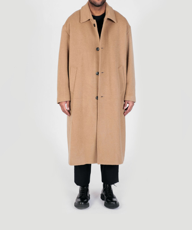 Lownn Over Coat Beige , Black 19AW-LOW-OC
