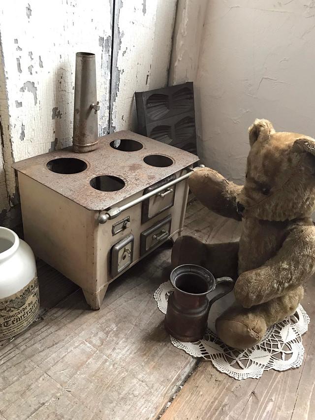 ブリキ おもちゃのキッチン オフホワイト ベージュ