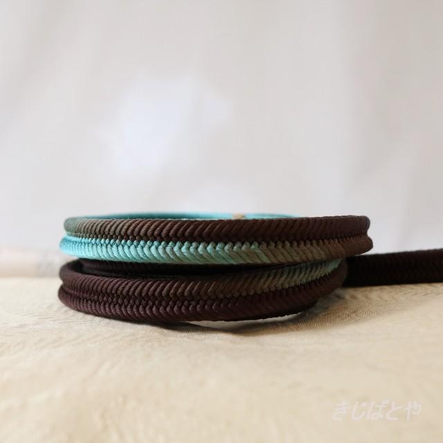 伊賀くみひも帯締め ぼかし チョコミント