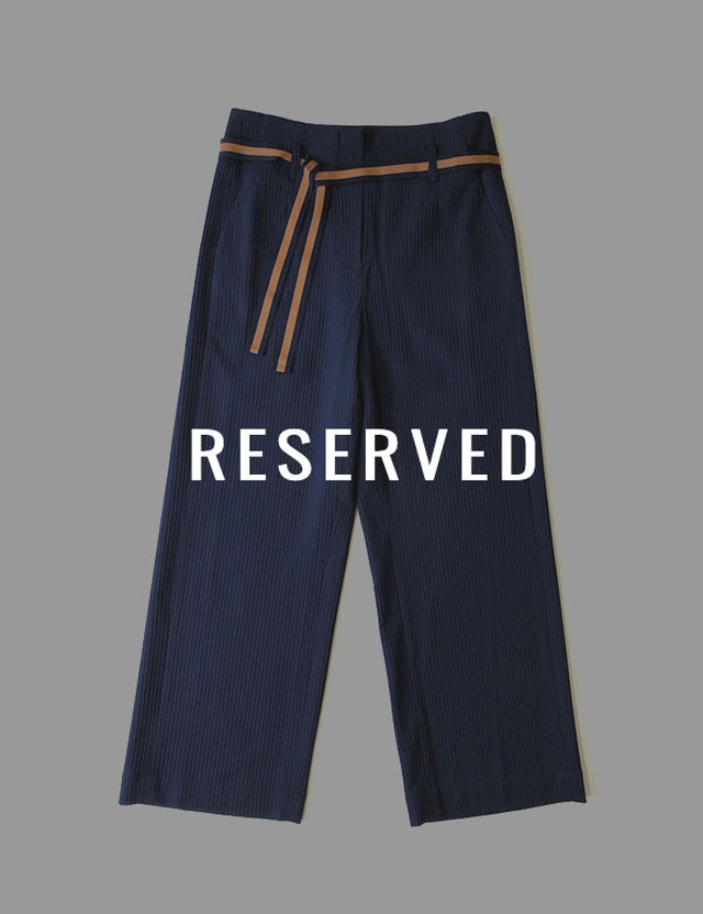 【RESERVED】BRUXELLES PANTS / ANNE WILLI