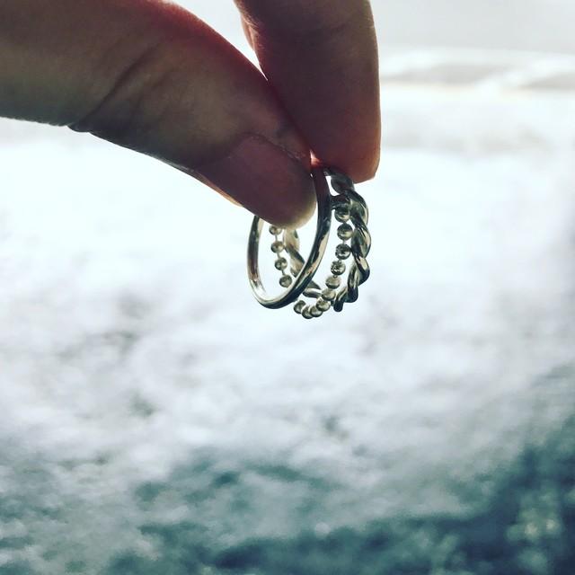 Silver Chain Ring (ロジウムコーティング)