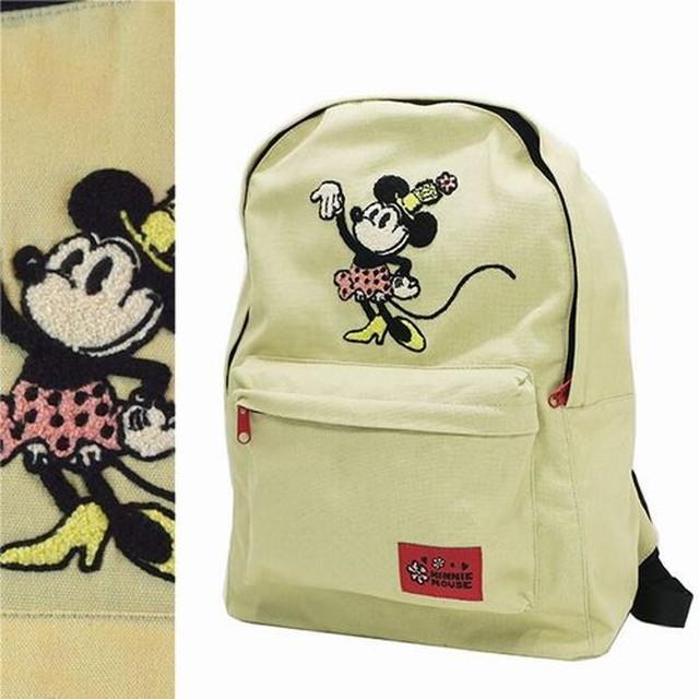 ミニーマウス◎キャンバスデイパック《サガラ刺繍》ディズニー/Disney (SN-Atw-d3874)