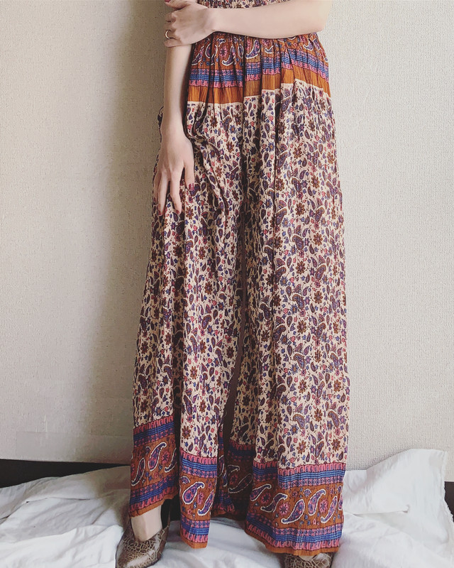 vintage Indian easy wide pants