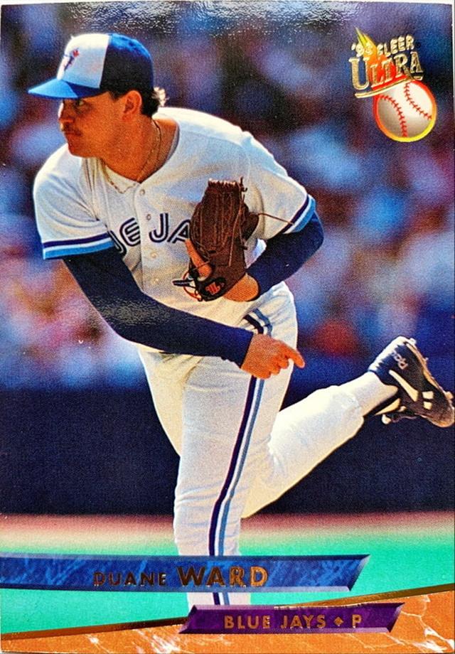 MLBカード 93FLEER Duane Ward #295 BLUE JAYS