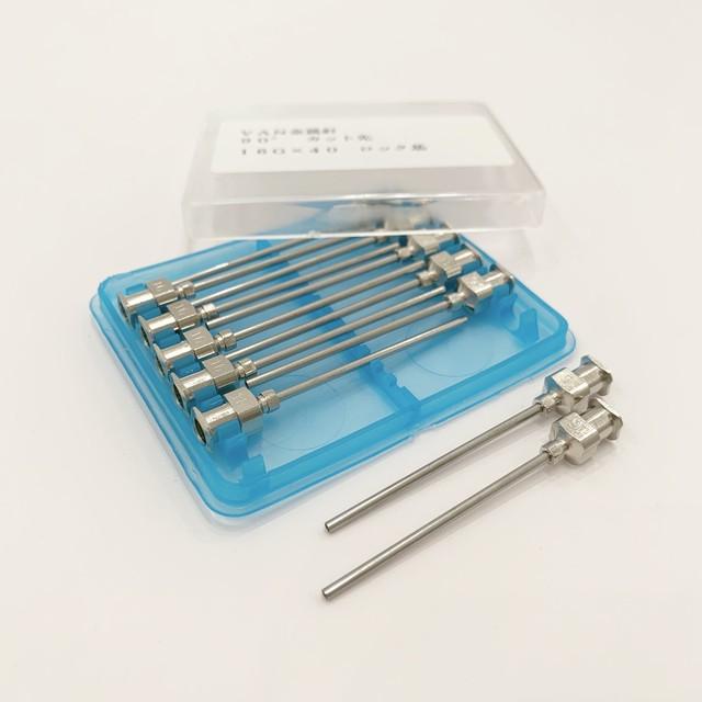 【工業・実験/研究用】 VAN金属針 90°カット先 16G×40 12本入(医療機器・医薬品ではありません)