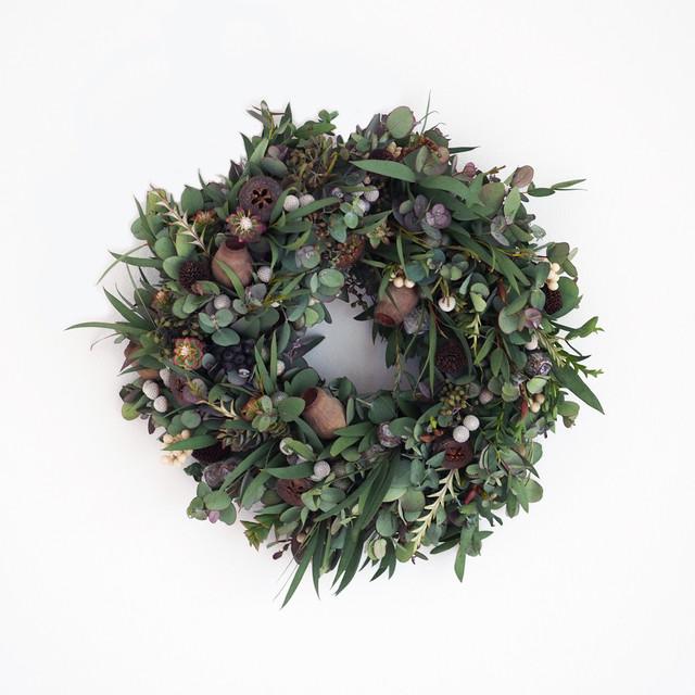 ルフルロン 中本健太「木の実のドライリース グレイ」