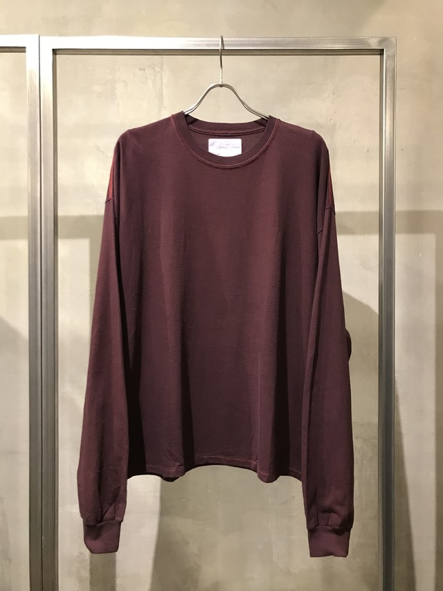 TrAnsference wide fit long sleeve T-shirt - dark berry
