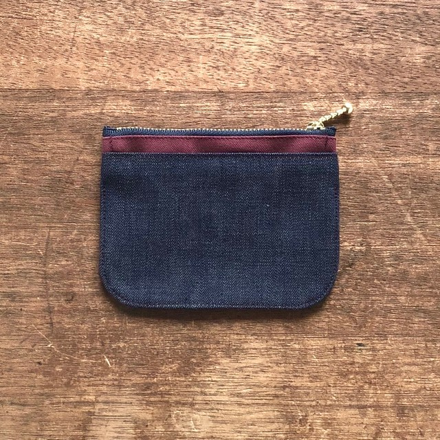 mini財布《 帆布×デニム 》