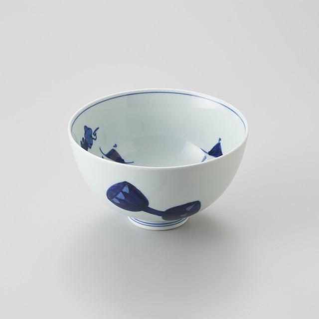 """【青花】""""オランダ万才"""" 5寸深丼"""