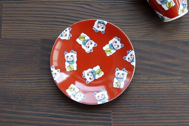 【SP3K19-05】『九谷縁起豆皿コレクション』『招き猫〈MANEKINEKO〉』        *かわいい豆皿 コレクション アクセサリー入れ 小物入れ 絵皿 九谷焼