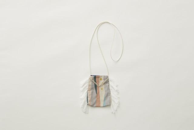 【21AW】eLfinFolk(エルフィンフォルク)Crambon stripe pochette ポシェット