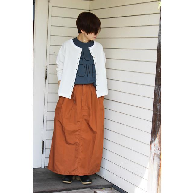 【tumugu:】TB20229 コットンリネンバウンスウェザースカート