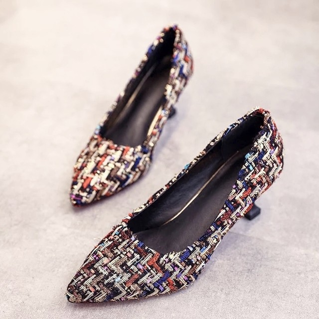 ◆予約◆colorful tweed heels